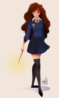 "pernilleoe: ""A little Hermione for @sketch_dailies. """
