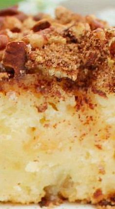 Cream Cheese Apple Cake The cake is brimming with chopped apples that sit in a cake batter made with butter and cream cheese. Apple Dump Cakes, Apple Cake Recipes, Apple Desserts, Köstliche Desserts, Delicious Desserts, Dessert Recipes, Fruit Recipes, Cream Cheese Recipes, Cake With Cream Cheese