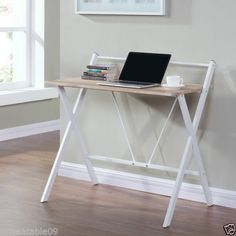 Wooden-Black-or-Oak-Computer-PC-Desk-Home-Office-Writing-Table-Workstation-Metal