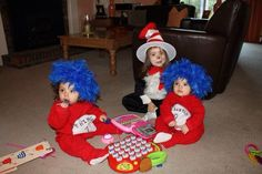 Thing 1 and Thing 2 plus Cat in the Hat
