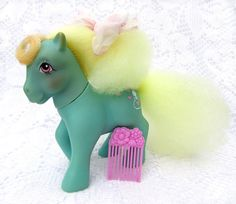 Vintage My Little Pony Perfume Puff Daisy Sweet with Flower Pick
