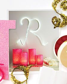 Send a message with tissue wrapped votives!