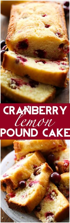 Try it with orange? This Cranberry Lemon Pound Cake is super delicious! It is moist, refreshing and super simple to make. It is perfect for the holiday season. Cranberry Cake, Cranberry Recipes, Just Desserts, Delicious Desserts, Yummy Food, Icebox Desserts, Holiday Baking, Christmas Baking, Cake Recipes