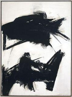 Franz Kline Black Sienna, 1960 Oil on canvas 92 1/4 x 68 inches (234.3 x 172.7 cm)