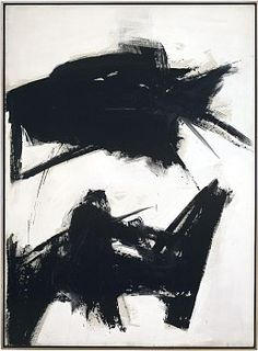 Franz Kline Black Sienna, 1960 Oil on canvas 92 1/4 x 68 inches (234.3 x 172.7 cm)
