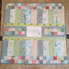 Back of Moore baby quilt