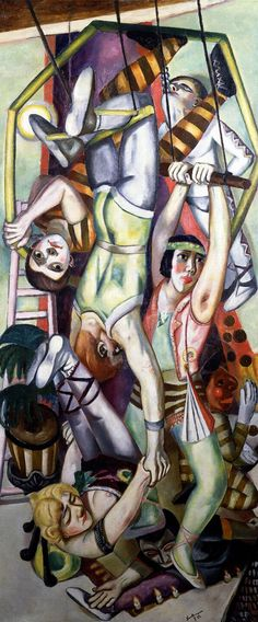 Max Beckmann (German [Neue Sachlichkeit, German Expressionism] The Trapeze, Max Beckmann, Ernst Ludwig Kirchner, Franz Marc, Wassily Kandinsky, Harlem Renaissance, Figure Painting, Painting & Drawing, Ludwig Meidner, Carl Friedrich