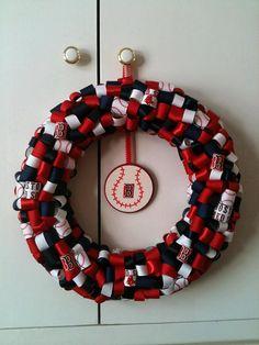 Boston Red Sox Wreath