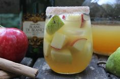 Apple Cider Champagne Cocktail....this is going to be my football tailgate beverage this year @Bekka Painter