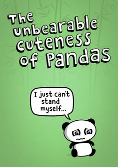 Our great Unbearable Panda on a poster