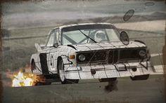 Frank Stella BMW Art Car 1976 3.0 CSL Turbo E9 Group 5  (BMW CSL Group 5 for GT Legends, SimBin Studios)