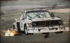 Frank Stella BMW Art Car 1976 3.0 CSL Turbo E9 Group 5  (BMW CSL Group 5 for GT Legends, SimBin Studios)