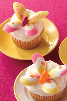 Lemon Butterfly Cupcakes - WomansDay.com