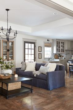 Who's ready for a Fixer Upper living room? If you don't know who Chip and Joanna Gaines are from the hit HGTV show Fixer Upper, then here is a dose of fabulous from them! Joanna is known for her rustic… Continue Reading → Blue Couch Living Room, Living Room Interior, Home Living Room, Living Room Furniture, Living Room Designs, Rustic Furniture, Antique Furniture, Outdoor Furniture, Furniture Plans