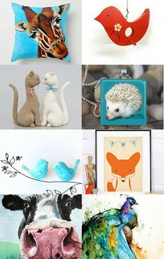 animals... by Rachelle Gough on Etsy--Pinned with TreasuryPin.com