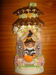 Gingerbread, Polymer Clay, Halloween, Jars, Balconies, Canvases, Clay Roof Tiles, Grow Taller, African