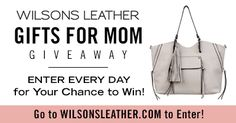 Enter each day for your chance to win a handbag for you & yourmomnow through April 30, 2017.  http://woobox.com/gocqho/itwjc1