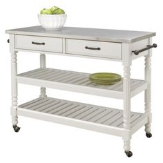 Savannah Kitchen Cart - White