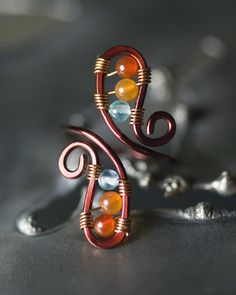 Apatite and Agate Bronze Copper Toe Ring by Moss & Mist Jewelry by Moss & Mist Jewelry, via Flickr