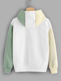 Shop Graphic Embroidered Contrast Sleeve Hoodie at ROMWE, discover more fashion styles online. Trendy Hoodies, Cool Hoodies, Cool Outfits, Casual Outfits, Fashion Outfits, Off White Hoodie Men, Sweat Shirt, Aesthetic Clothes, Romwe