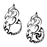 Manaia flash tattoo