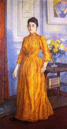 The Athenaeum - Portrait of Madame V.R. (Theo van Rysselberghe - 1891-1892)