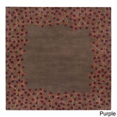 $298 Hand-tufted Rome Floral Border Square Wool Area Rug (8' x 8') - Free Shipping Today - Overstock.com - 16468078