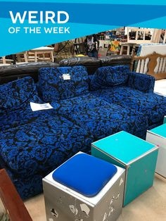 Calling all extreme sports fans! Our weird of the week goes to the X Games, who donated these ornate couches. Look closely, for the X Games logo hidden in the pattern.   #atx #restore#reuse #recycle #upcycle#home #austin #deals #finds #shopatx #discount #thrift #habitatforhumanity #home  #keepaustinweird