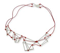 Gema Canal, necklace. Silver, thread