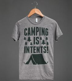 Camping Is Intents! | Athletic T-shirt | Skreened