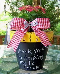 Easy Teacher Gift. I think I'm going to try this for Lana and Casey's teachers.