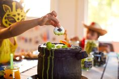 Our recipe lets you create a deliciously sweet cake cauldron of slime and fog that little ghouls and boos will love digging into this Halloween. Cauldron Cake, Sweet Cakes, Quick Easy Meals, Slime, Halloween Crafts, Holiday Recipes, A Food, Cake Recipes, Dishes