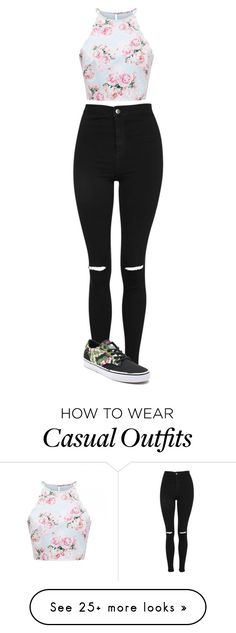 """casual"" by life-is-dead on Polyvore featuring Topshop and Vans"