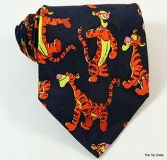 Fun tie for Tigger lovers everywhere! Winnie the Pooh Cool Ties, Neck Ties, Tigger, Winnie The Pooh, Lovers, Fun, Tie Dye Outfits, Ties, Winnie The Pooh Ears