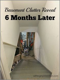 Do you have an area that is out of hand? A place you just stick things that need to be out of the way? Our area was the basement. Six months ago we revealed our basement clutter. Here is our basement clutter tour with before and after pictures. We're not done yet, but making progress!