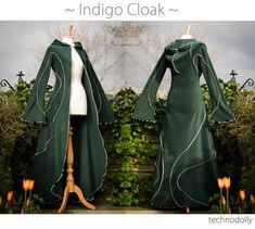 Cloak with Sleeves and Hood - Elven Style