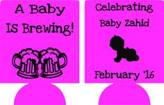 beers baby is brewing shower favors Can Coolers