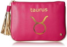 Stephanie Johnson Taurus Flat Pouch, Pink, Large -- This is an Amazon Affiliate link. Want to know more, click on the image.