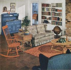 Early american interior design modern: early american living room furniture, early colonial furniture plans modern home design ideas, american colonial interior design florinbarbuinfo Sala Vintage, Vintage Room, Vintage Decor, Vintage Homes, 1940s Decor, Retro Home Decor, Early American Decorating, Maple Furniture, House Furniture