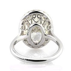 5.83ct Oval Cut Diamond Engagement Ring SKU: 2918-1