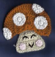 The Cheerful Mushroom Applique/Fridgie - Free Original Patterns - Crochetville