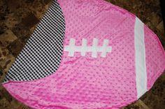It's Alabama football season!!  Pink baby minky dot/houndstooth blanket.