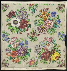 Beautiful Floral Berlin WoolWork Patterns Produced By Hertz & Wegener