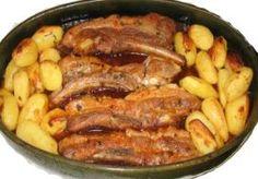 Entrecosto no forno com batatas