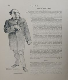 Heart to Heart Talks by W J  Brayon  an actual 1904 Life magazine page  illustration and writing