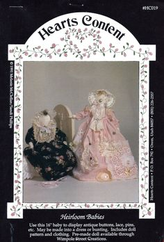 "BABY SEWING PATTERNS - 16"" Tall - ""Heirloom Babies"" - at KrissesKorner on Etsy"
