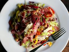 Chopped Salad with Italian Vinaigrette from Mozza:  the ONLY good use for iceberg lettuce.