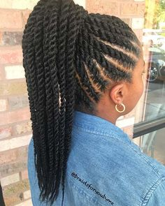 Book for Medium Bra Strap Length Marley Ponytail . # Book for Medium Bra Strap Length Marley Ponytail . Cornrow Ponytail, Twist Ponytail, Braided Ponytail Hairstyles, Braided Hairstyles For Black Women, African Braids Hairstyles, My Hairstyle, Twist Braids, Twist Hairstyles, Cornrows