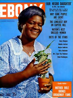 Ebony Magazine Cover 1961 | ... Claudia McNeil Has Fame on Broadway - Ebony Magazine, May, 1960