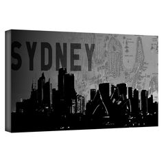 'Sydney' by Art Sandcraft Graphic Art Gallery-Wrapped on Canvas